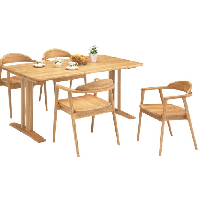 ダイニングセット ダイニングテーブルセット 5点セット 4人掛け 食卓セット シンプル モダン 北欧 ナチュラル色 木製 食卓セット ダイニングチェア 4脚 幅150cm おしゃれ 送料無料