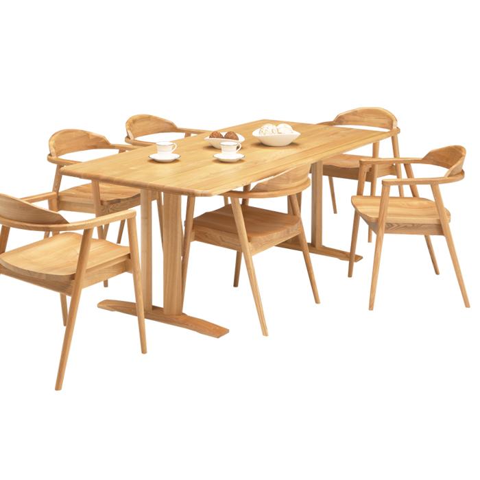ダイニングセット ダイニングテーブルセット 7点セット 6人掛け 食卓セット シンプル モダン 北欧 ナチュラル色 木製 食卓セット ダイニングチェア 6脚 幅180cm おしゃれ 送料無料