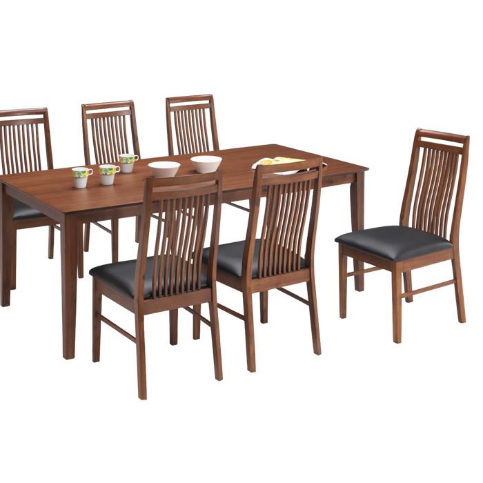 ダイニングセット ダイニングテーブルセット 7点セット 6人掛け 6人用 長方形 幅180テーブル 180×90 ハイバックチェア 北欧 モダン シンプル 木製 食卓セット 食卓 送料無料