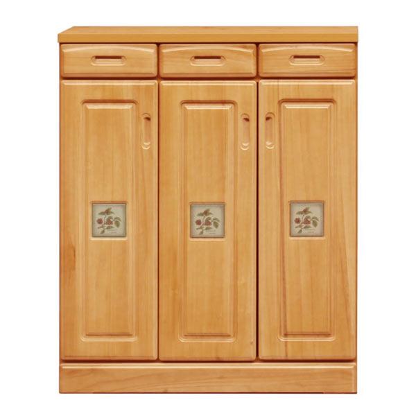 シューズボックス 下駄箱 靴箱 幅90cm ロータイプ 玄関収納 木製 桐材 完成品 日本製 送料無料