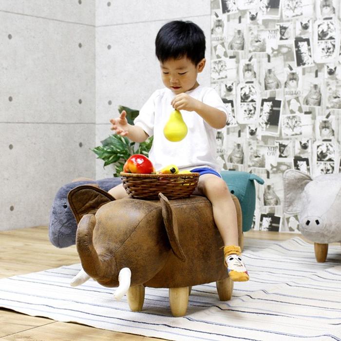 ゾウ ぬいぐるみ 可愛い 乗り物 おもちゃ 子供 象 幅35 高さ36 スツール ブラウン 子供部屋 動物 送料無料