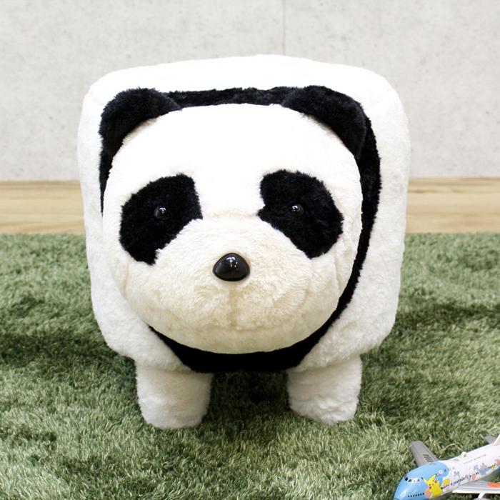 パンダ ぬいぐるみ 可愛い 乗り物 置き物 おもちゃ 子供 幅35 高さ37 スツール ホワイト ブラック 子供部屋 動物 送料無料