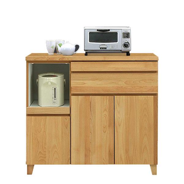 キッチンカウンター 間仕切り 幅100cm 高さ90cm キッチン収納 台所 収納 スライドテーブル MOISS スライドカウンター おしゃれ 食器収納 木製 北欧 家電 キッチン 作業台 食器棚 日本製