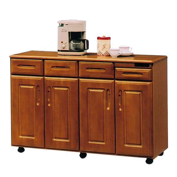 キッチンワゴン 間仕切り キッチン 収納 キャスター付き キッチンカウンター テーブル 作業台 幅120cm 調理台 コンセント付き 背面化粧仕上げ キッチン収納 台所 キッチンテーブル 日本製