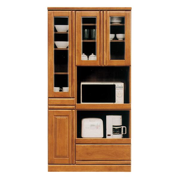 食器棚 キッチン収納 キッチンボード 幅90cm 【ジェロシリーズ】 木製 完成品 日本製 送料無料