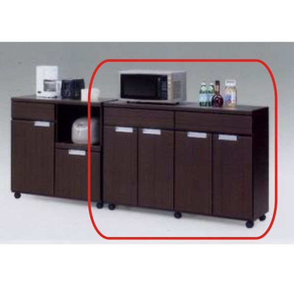 キッチンカウンター レンジ台 キッチンボード レンジボード キッチン収納 幅120cm キャスター付き 木製 完成品 送料無料