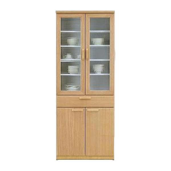 食器棚 キッチンボード 幅70cm ハイタイプ キッチン収納 食器収納 収納家具 開き戸 シンプル ナチュラル モダン 北欧 木目 木製 日本製 完成品 送料無料