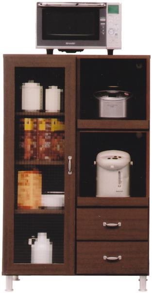 レンジ台 レンジボード 幅80cm 80cm キッチン収納 シンプル モダン ブラウン 木目調 木製 完成品 送料無料
