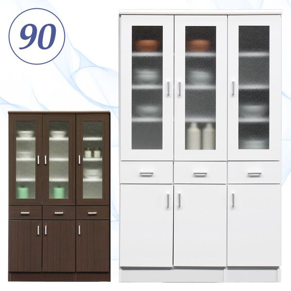 食器棚 ダイニングボード 90幅 90cm 高さ148cm 完成品 キッチン収納 シンプル ナチュラル モダン 北欧 日本製 国産 家具送料無料
