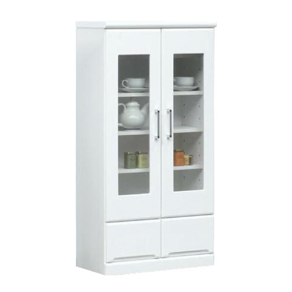 キャビネット 幅60cm 奥行31.5cm 薄型 リビング収納 白家具 シンプル 北欧 鏡面 ホワイト 白 木製 日本製 完成品 送料無料