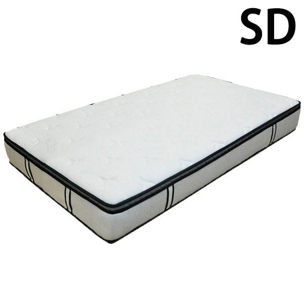 マットレス セミダブル ポケットコイル 片面ピロートップ 高密度 寝具 送料無料
