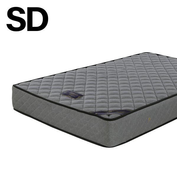 マットレス ポケットコイル セミダブル 寝具 グレー セミダブルサイズ 幅120 送料無料