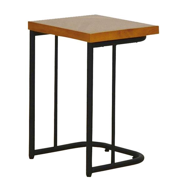 サイドテーブル おしゃれ 木製 幅40cm ナイトテーブル 角 ベッド テーブル ラバーウッド材 ナチュラル モダン ミニテーブル 寝室家具 寝室 収納 完成品 リビング収納 コンパクト 省スペース ブラウン色 茶色