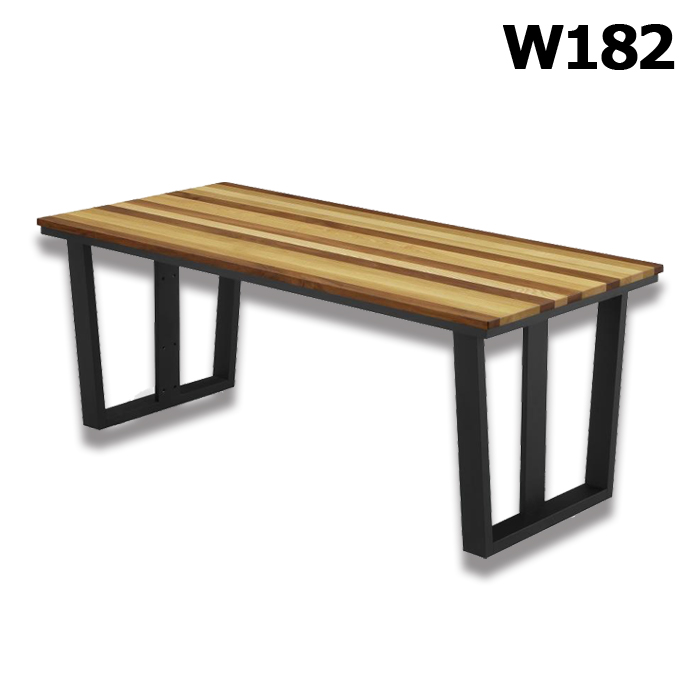 無垢材 ダイニングテーブル 幅182cm 北欧 シンプル モダン 木製 おしゃれ リビングテーブル 食卓 食卓テーブル 高級感 長方形 送料無料