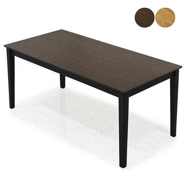 ダイニングテーブル 単体 テーブル幅165 幅165cm 高さ70cm オーク突板 長方形 北欧 木製 ナチュラル ブラウン 選べる2色 食卓テーブル 突板 リビングテーブル 食卓 送料無料