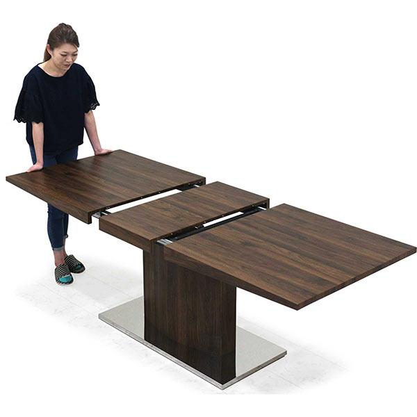 伸長式 テーブル ダイニングテーブル バタフライテーブル 160×85 200×85 長方形 北欧 モダン カジュアル シンプル ナチュラル 伸長テーブル 伸長式ダイニングテーブル 伸びる机 送料無料