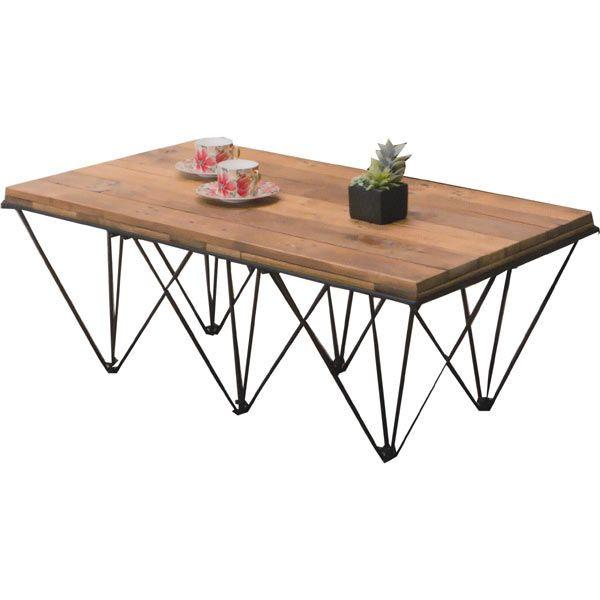 センターテーブル リビングテーブル ローテーブル 座卓 ちゃぶ台 幅105cm ヴィンテージ アジアン エスニック シンプル 北欧 モダン 木製 パイン材 送料無料