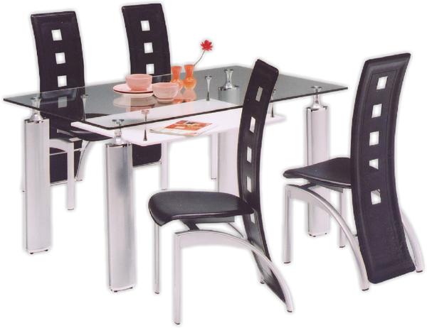 ガラスダイニングセット ダイニングテーブルセット 5点セット 4人掛け 北欧 モダン 食卓セット 送料無料
