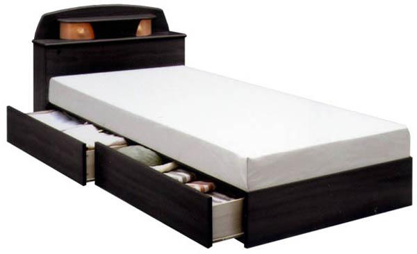 シングルベッド ベット ベッド 宮付き 収納機能付きベッド ベッドフレーム 木製 マットレス別売りです 送料無料