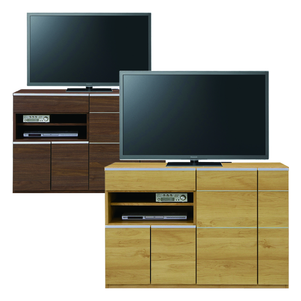 テレビ台 ハイタイプ 日本製 幅120cm 高さ80cm ナチュラル ブラウン 選べる2色 リビングボード リビング収納 おしゃれ AV収納 国産 シンプル 木製 送料無料