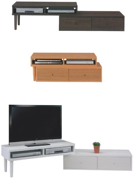テレビ台 TVボード ローボード 幅115cm 伸長式 省スペース AV収納 オーディオ収納 シンプル モダン 3色対応 木製 日本製 完成品 送料無料