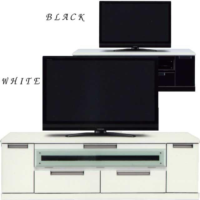テレビ台 TVボード ローボード 幅150cm 鏡面 2色対応 木製 完成品 送料無料
