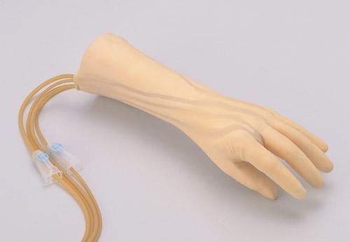 手背の静脈注射シュミレーター