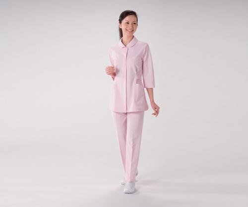 ナースウェア[上衣]HO1911 7分袖ピンク
