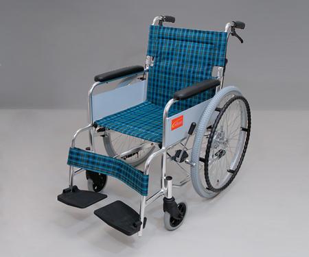 【代金引換不可】車椅子[アルミ製]介助ブレーキ付 0101-LB2205