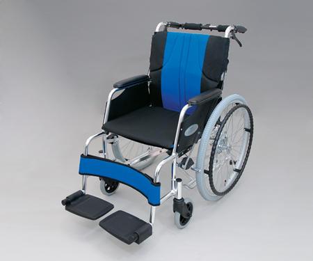 【代金引換不可】車椅子[アルミ性・自走式]ナイロン ブルー0101-LA2007