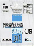 【ケース販売】CHEMI CLEAN 透明ポリ袋 CC-30N(30リットル) 10枚入×120冊