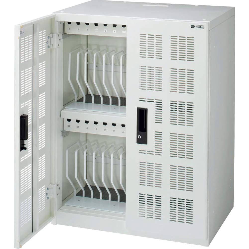 モバイル端末用収納保管庫 セーフティチャージャー 固定型 (30台・一括収納) TPC-30 ホワイト