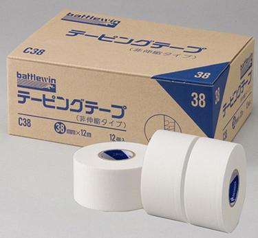 【ニチバン】テーピングテープ CH-38(非伸縮)幅38mm×12m(12巻入)