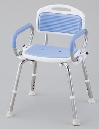 業務用シャワー椅子(SUSフレーム)肘付き