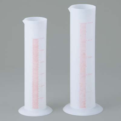 ポリシリンダー[PE] (容量5L、一目盛50ml、外径φ126mm、全高520mm)