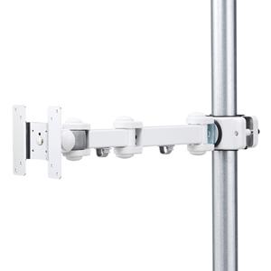[サンワサプライ] 支柱取付け液晶モニタアーム (柱径40~60mm・100x100mm対応長タイプ) CR-LA354