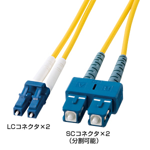 [サンワサプライ] 光ファイバケーブル(2m) HKB-LCSC1-02L