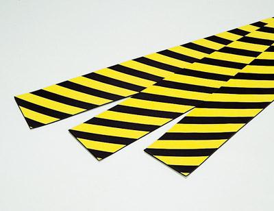 危険標示にクッション機能をプラス 卸直営 トラクッション 平板 200×1000×8mm 無反射タイプ 宅配便送料無料