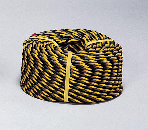 黄×黒 反射トラロープ (12mmφ×100m)