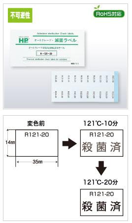 【クール便】《不可逆性》レトルト殺菌ラベル R (1000枚/箱)