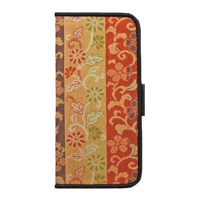 純和風 iPhone7用 スマートフォンケース・カバー (手帳型 横開き 二つ折り) 「雅」- 014