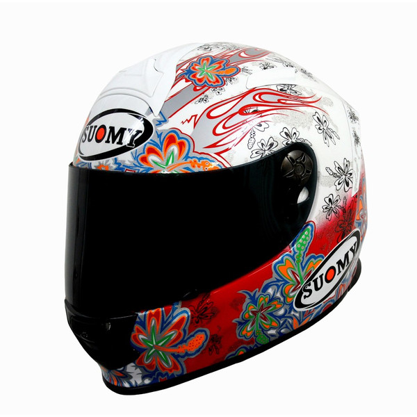 【返品・サイズ交換不可!!】日本特別仕様 SUOMY SSR00F3 SR-SPORTヘルメット FLOWER ホワイト/レッド 【スオーミー フラワー】 SGマーク 公道走行OK【smtb-k】