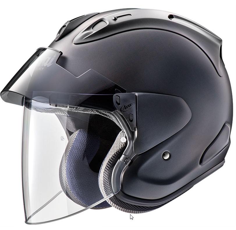Arai VZ-RAM ヘルメット PLUS フラットブラック【VZラム プラス】【アライ バイク用 ジェットヘルメット】