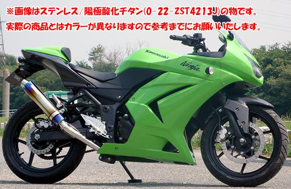 ZNIC #0-22-ZSS4213J ステンレスサイレンサー スリップオン 政府認証(JMCA) Ninja250R【ジニック】