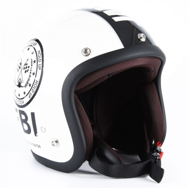 72JAM JJ-02 ジェットヘルメット F.B.I【ホワイト】