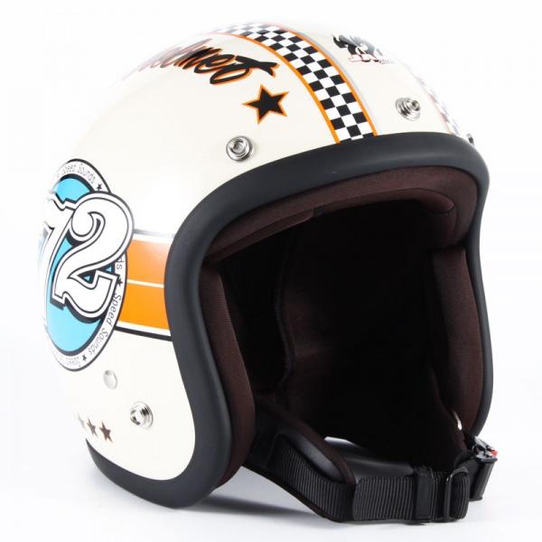 72JAM JJ-04 ジェットヘルメット SPEED SOUND【アイボリー】
