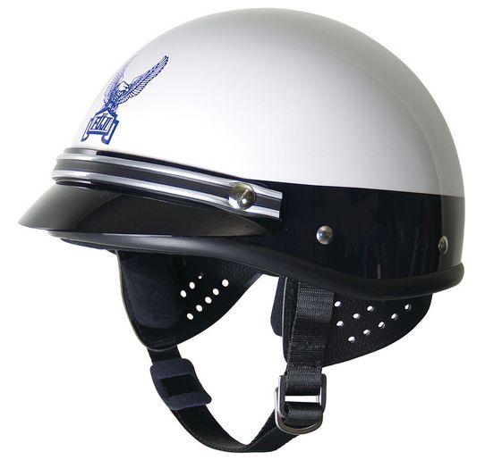 コミネ FUJI-300C ジェットヘルメット【ホワイト/シルバーモールド】【フジヘル】【smtb-k】