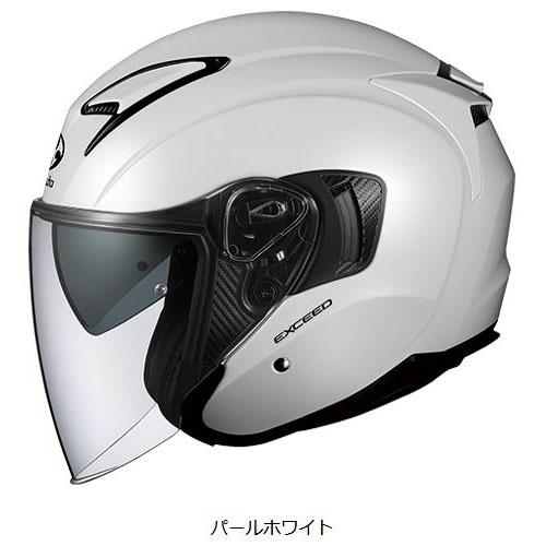 OGKカブト EXCEED ヘルメット【パールホワイト】【オージーケーカブト バイク用 ジェットヘルメット エクシード】【smtb-k】