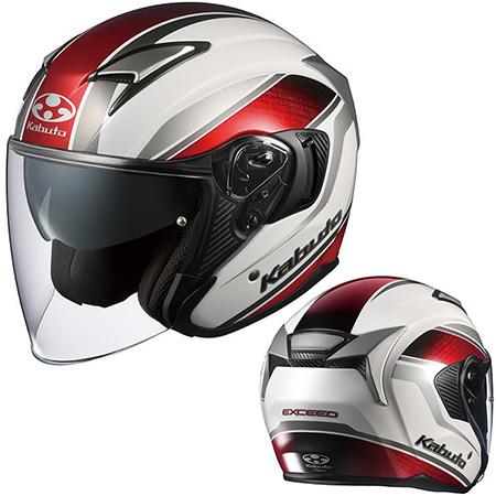 OGKカブト EXCEED ヘルメット DEUCE【パールホワイト】【オージーケーカブト バイク用 ジェットヘルメット エクシード・デュース】【smtb-k】