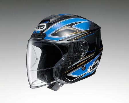 SHOEI J-FORCE4 BRILLER ヘルメット 【ブリエ TC-2 BLUE/BLACK 】【ショウエイ バイク用 ジェットヘルメット Jフォース4 ショーエイ】【smtb-k】